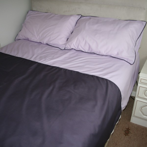 Single Bed Contrasting Cuff Duvet Set